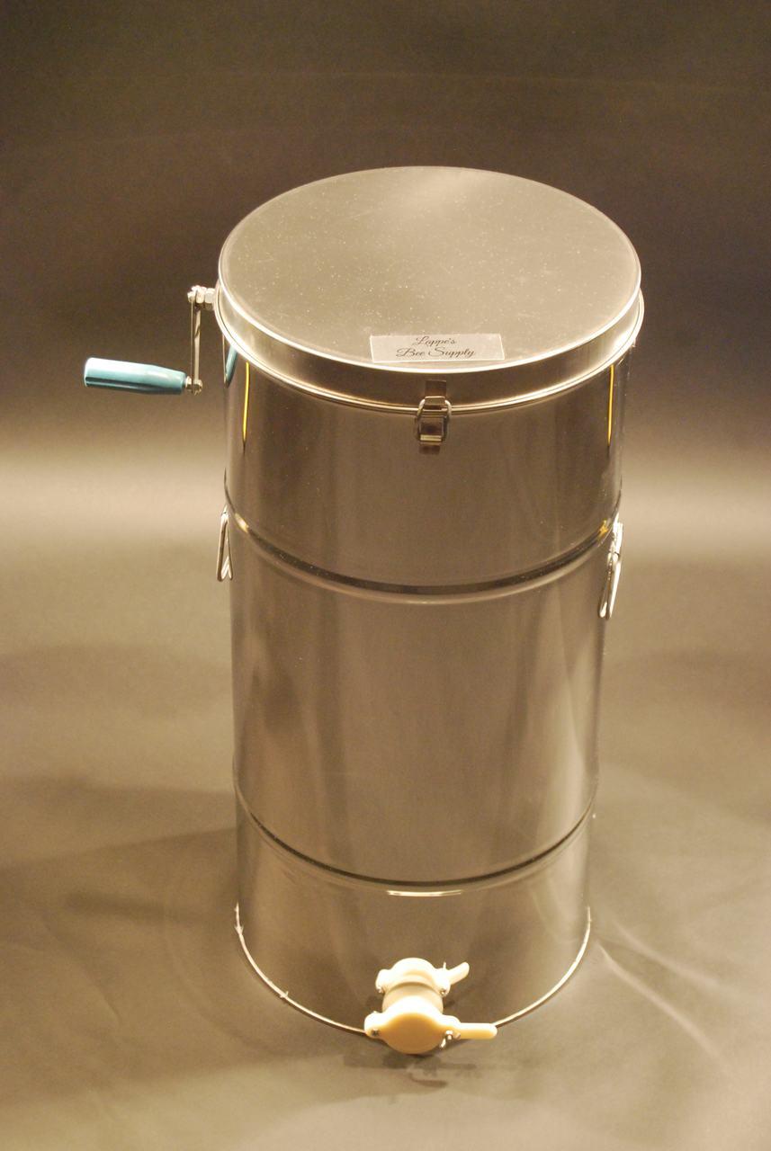 2 Frame Stainless Steel Drum Honey Extractor