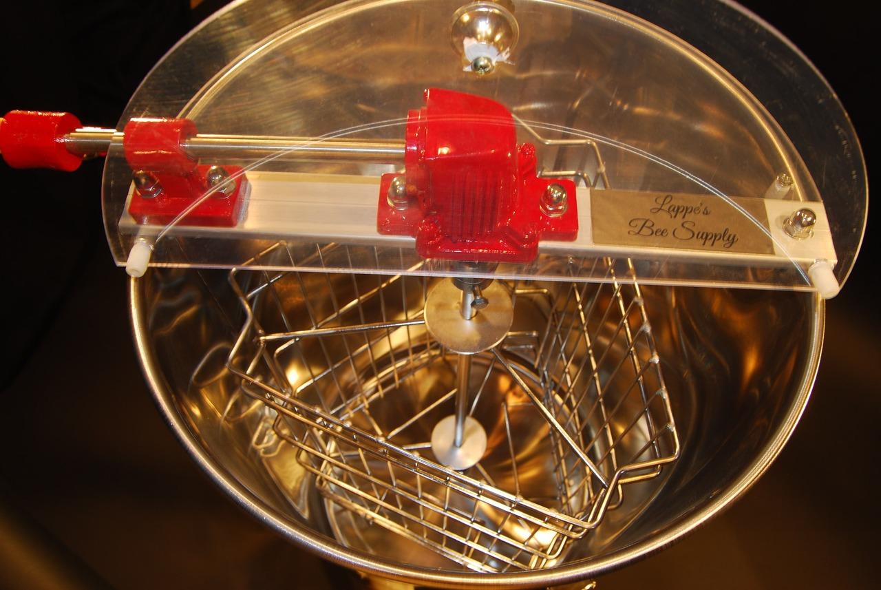 Inside 3 Frame Honey Extractor
