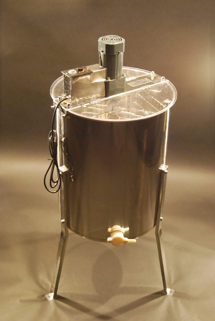 Electric 8/4 Stainless Steel Honey Extractor