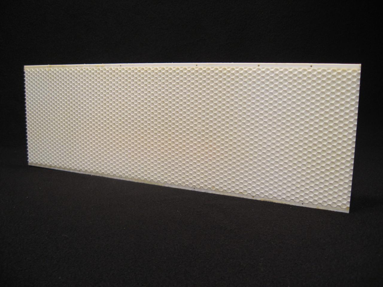 "5-5/8"" wax coated white plastic foundation double wax"