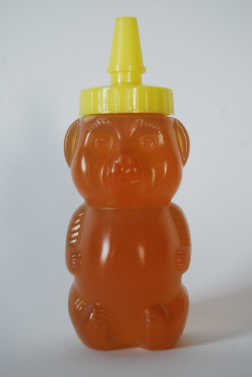 8 oz. extra soft squeeze plastic honey bears - case of 420