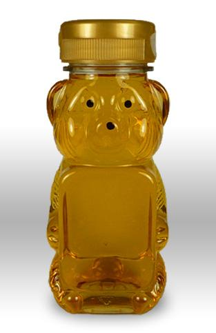 8 oz. PET honey bear containers