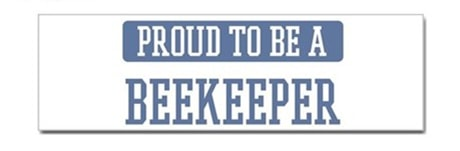Proud to be a Beekeeper Decal