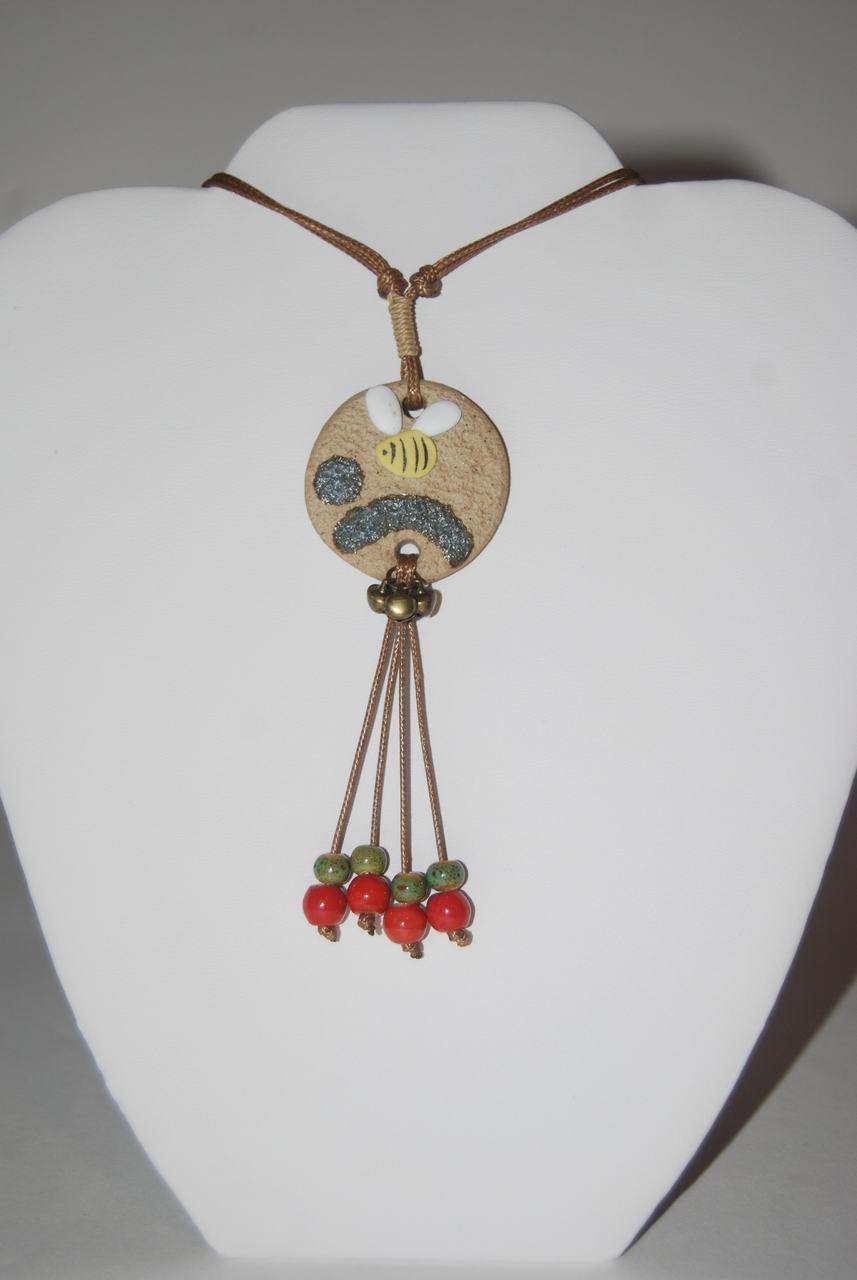 Honey Bee Dangle Necklace