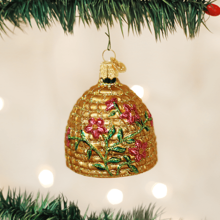 Honey Bee Skep Christmas Ornament