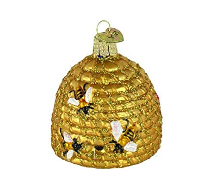 Honey Bee Skep Christmas Ornament Bees