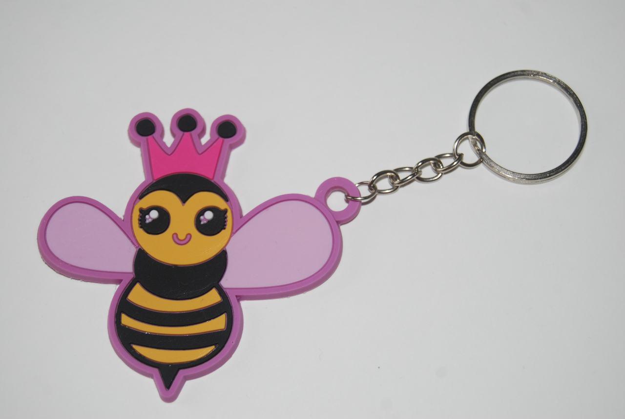 Queen Honey Bee Key Chain