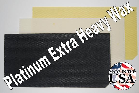 "8-1/2"" Platinum Extra Heavy Wax Foundation"