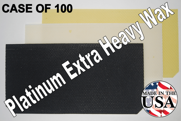 "8-1/2"" Platinum Extra Heavy Wax Foundation - case of 100"