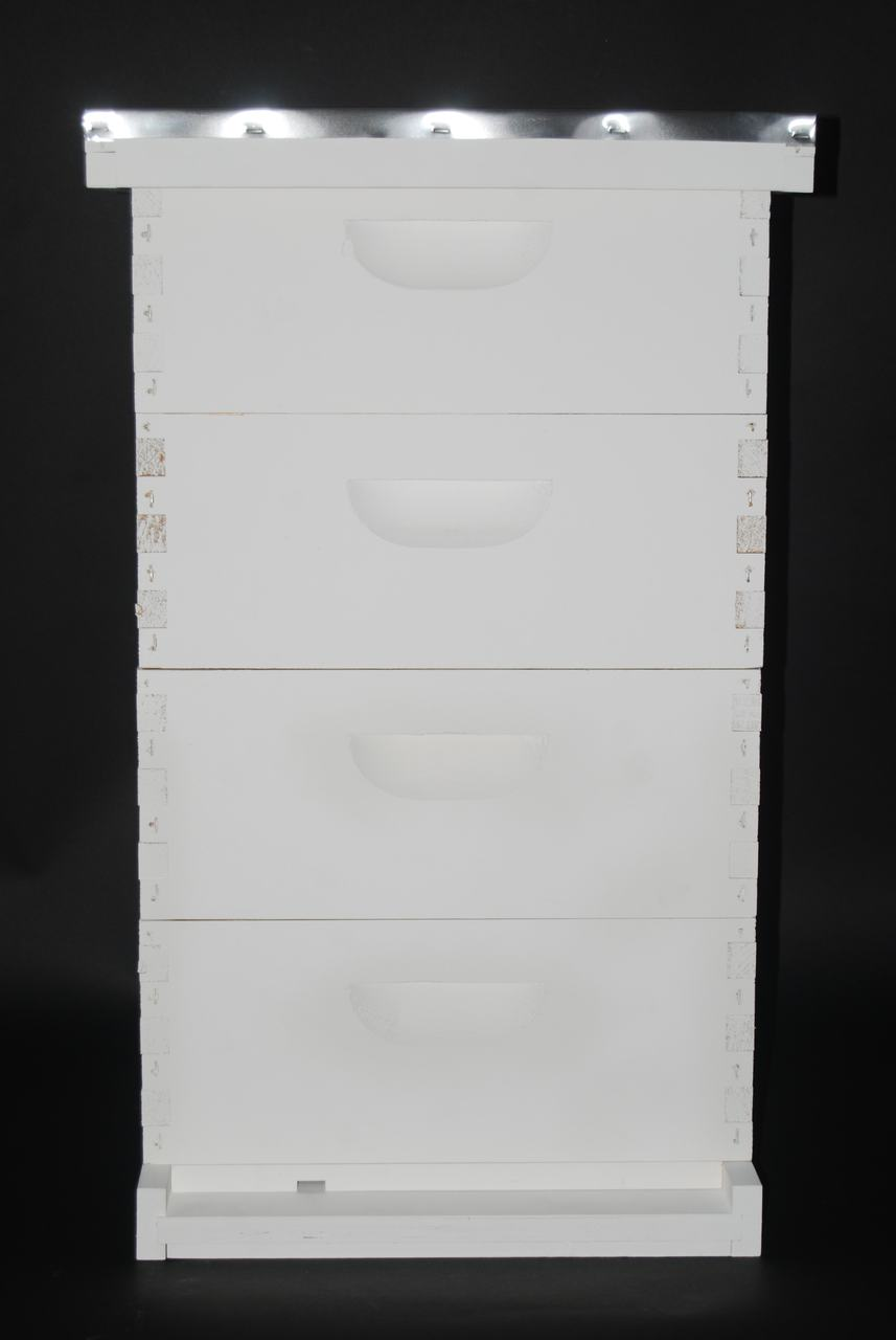 """8 Frame 6-5/8"""" Premium Painted Bee Hive Colony Expanding Kit"""
