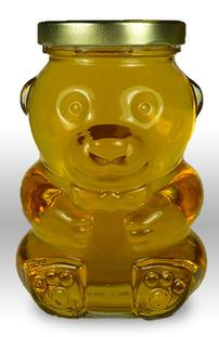 12 oz. Glass Bear Honey Jars with lids - 12 count