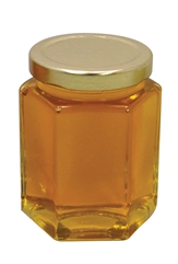 12 oz. Hex Glass Jars with lids - 12 count
