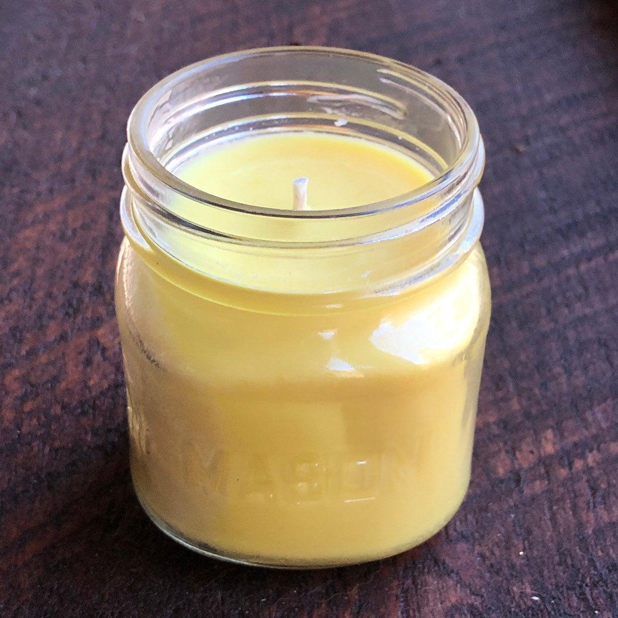 square glass mason jar candles