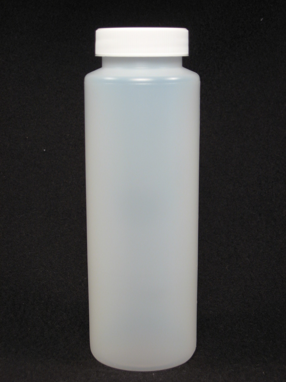 12 oz. Cylinder honey bottles - case of 350 with white screw top lids