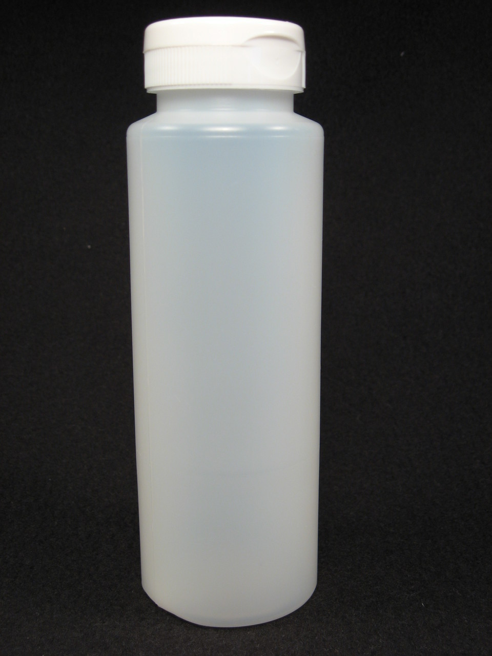 12 oz. Cylinder honey bottles - case of 350 with white flip top lids