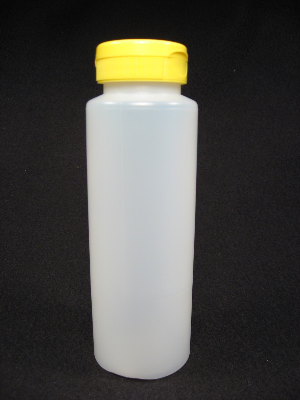 12 oz. Cylinder honey bottles - case of 350 with yellow flip top lids
