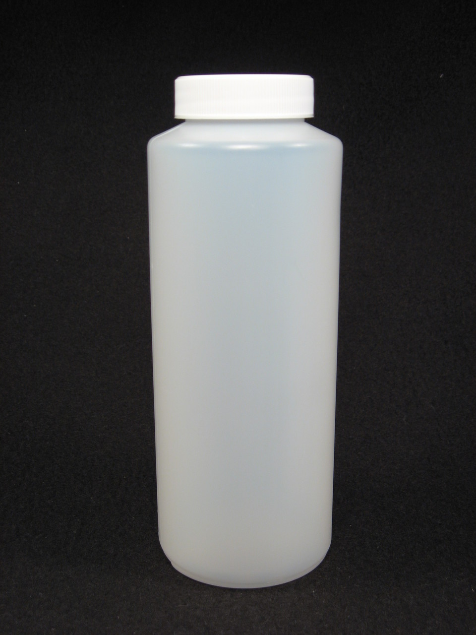 16 oz. Cylinder honey bottles - case of 300 with white screw top lids