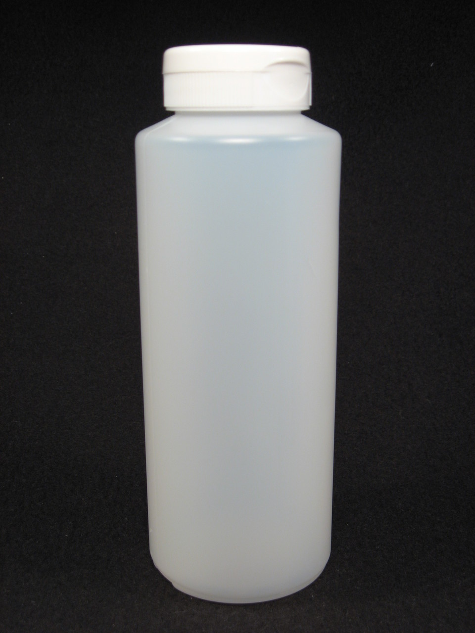 16 oz. Cylinder honey bottles - case of 300 with white flip top lids