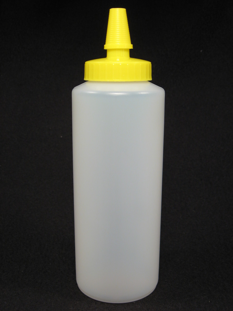 16 oz. Cylinder honey bottles - case of 300 with yellow hi-flo spouts