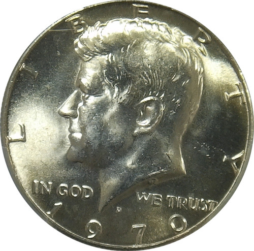 1970-D Kennedy 50C, Silver Clad, PCGS MS64