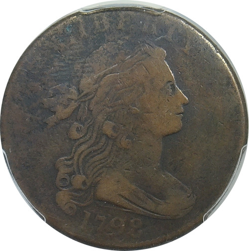 1798 Draped Bust 1C, 2nd Hair Style, PCGS Genuine VF Detail, Environmental Damage