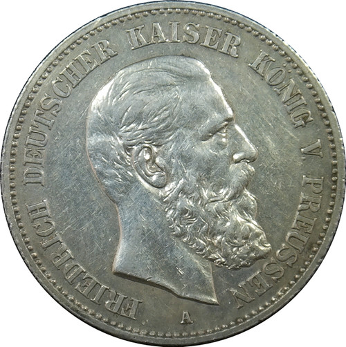 1888 2 Mark, German States, Prussia, KM#510, 90% Silver