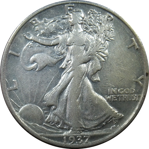 1937-S Walking Liberty Half Dollar