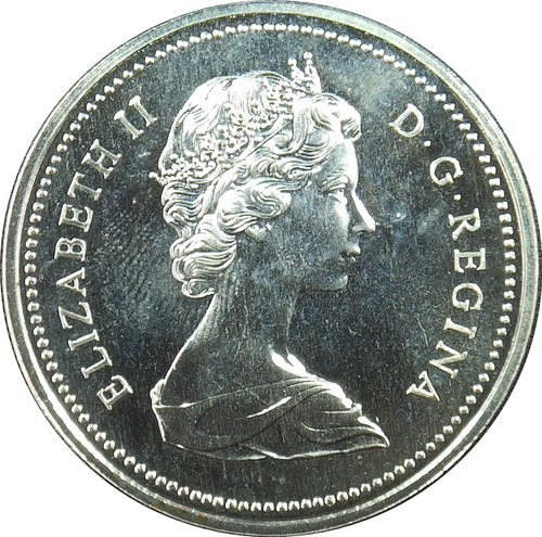 1972 1 dollar, Canada, First Portrait, KM# 76, 50% Silver
