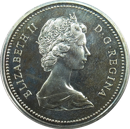 1973 1 dollar, Canada, First Portrait, KM# 76, 50% Silver