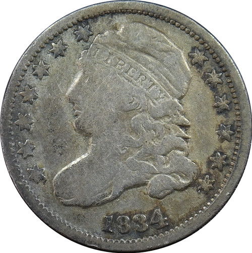 1834 Bust dime, Large 4