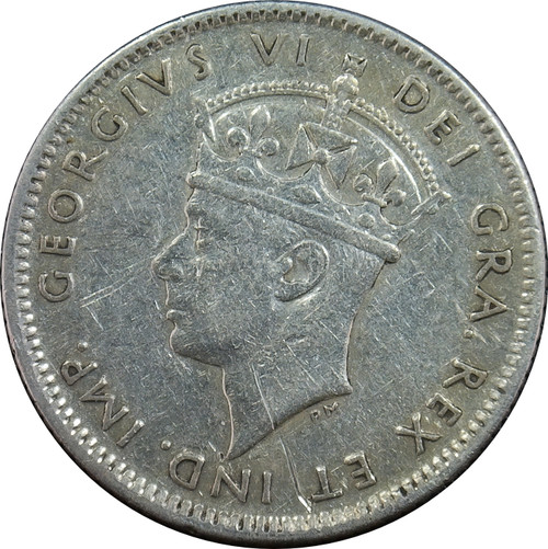 1943-C 10 Cents, New Foundland, KM#20, 92.5% Silver