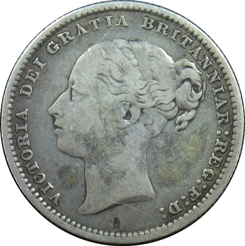1886 1 Shilling, Great Britain, KM# 734.4, 92.5% Silver