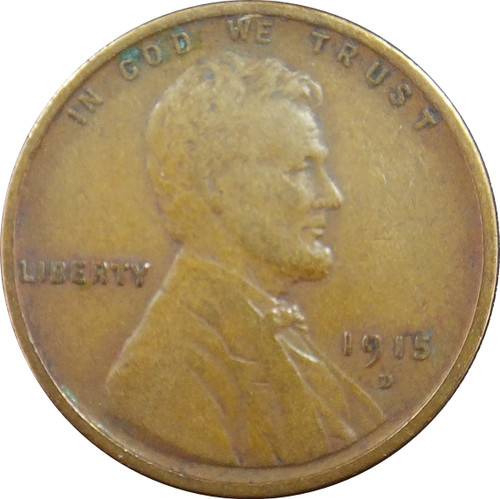 1915-D Lincoln Cent, F