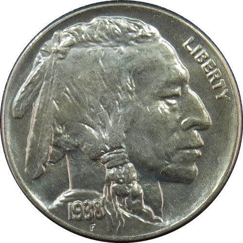 1938-D Buffalo Nickel, BU+