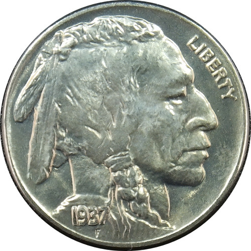 1937 Buffalo Nickel, BU+