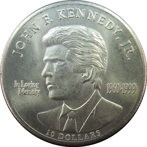 2000 10 Dollars, Republic of Liberia, Death of John F. Kennedy Jr.