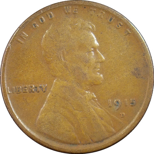 1915-D Lincoln Cent, XF