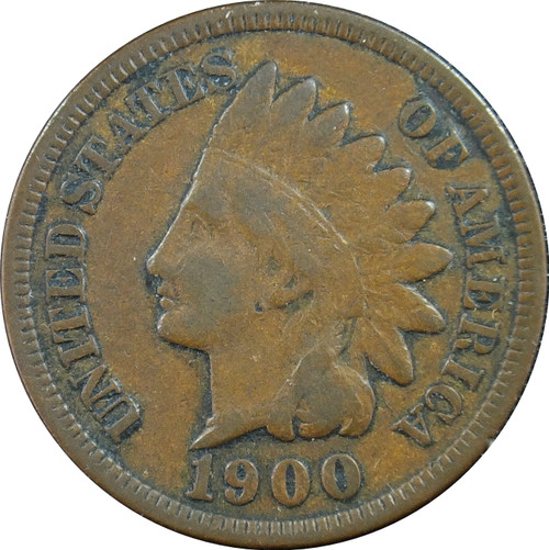 1900 Indian Head Cent, F