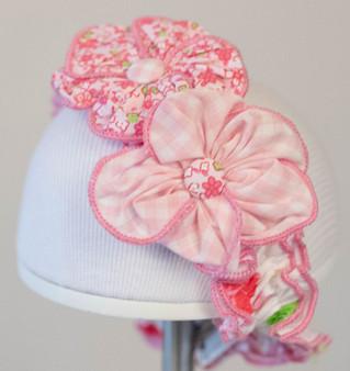 Wte  Pnk Floral Headband