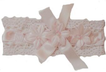 Wte  Crochet w Pink satin ribbon