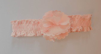 Lt Pnk Knit Headband w pnk flower