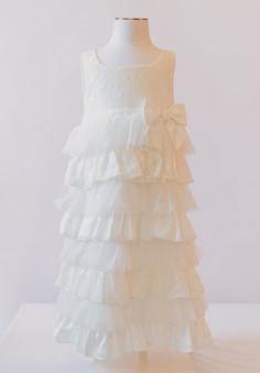 Off White lace dress w/ lace jacket