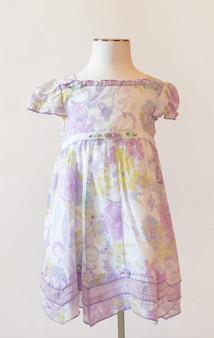 Lavender & White Cotton Dress
