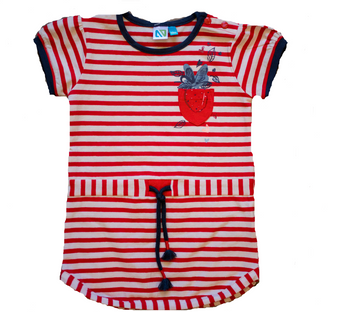 Red Wte Striped Tunic