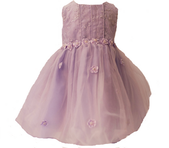 Lavender Organza w/ tulle and flowers 6M
