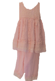 Pink Lace Tunic and pants 3T