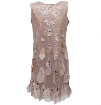Taupe Sequins Dress