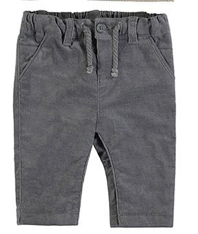 Grey Corduroy pants.  These slacks would be nice for play or dress up.