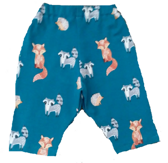 Teal Pants with Fox