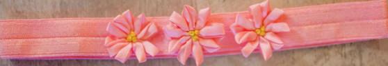 Peach Elastic with 3 peach flowers